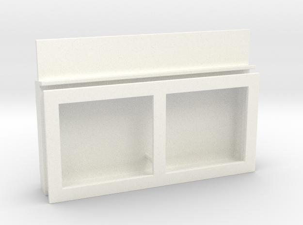 Fahrplankasten in White Processed Versatile Plastic