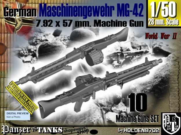 1/50 Machine Gun MG-42 Set001