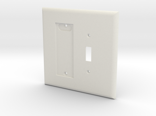 Philips HUE Dimmer 2 Gang Toggle Switch Plate in White Natural Versatile Plastic