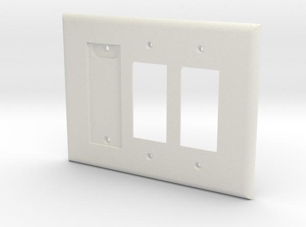 Philips Hue Single Dimmer Plate Left 3 Gang Decora in White Natural Versatile Plastic