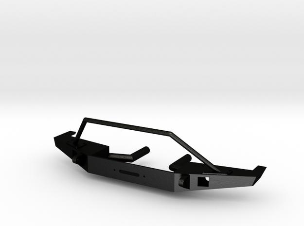 Front Bumper for Axial SCX10-II Jeep Cherokee in Matte Black Steel