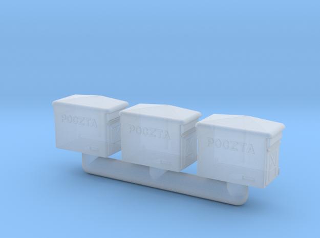 TT- Polish Rural Letter-Box 3x in Smooth Fine Detail Plastic