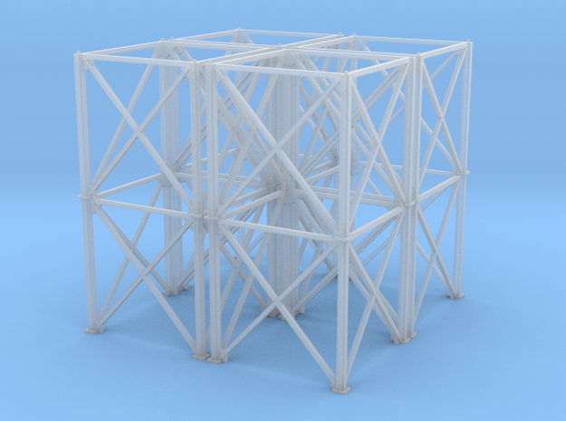 1/64 10' Support Tower 80' in Smooth Fine Detail Plastic