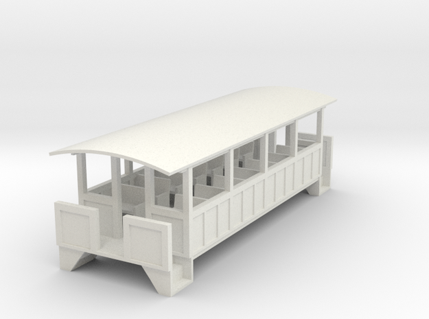 Excursion Car - Oscale in White Natural Versatile Plastic