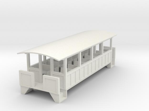 Excursion Car - Oscale in White Strong & Flexible