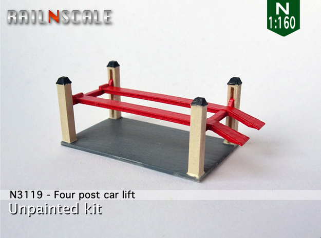 Four post car lift (N 1:160)