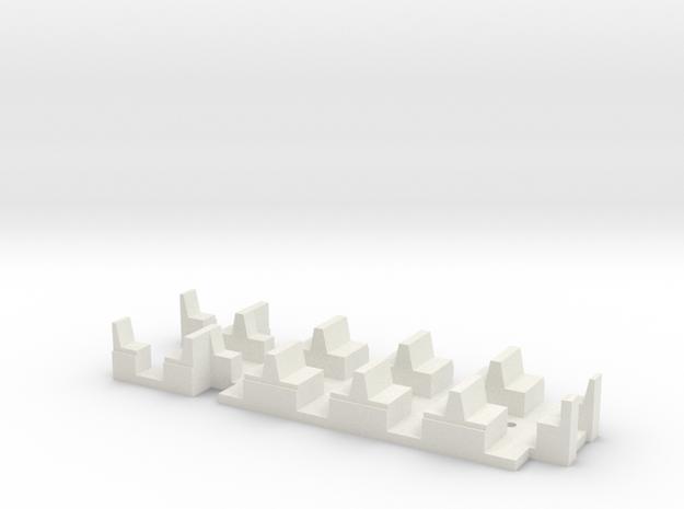 Sieges Motrice in White Natural Versatile Plastic