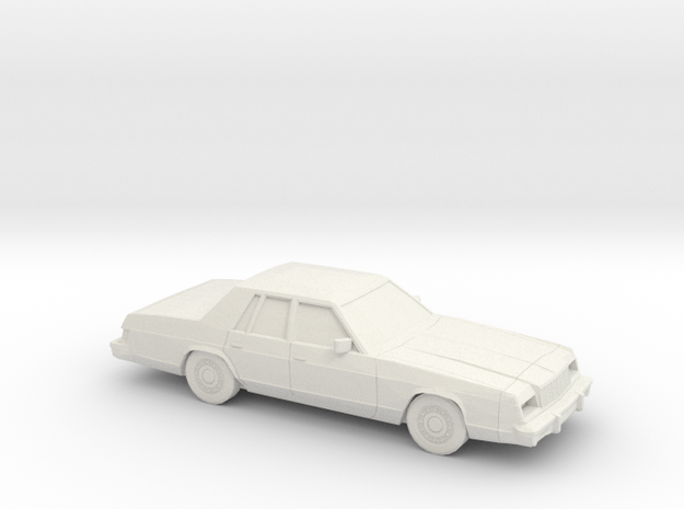 1/43 1979-81 Dodge St Regis in White Natural Versatile Plastic