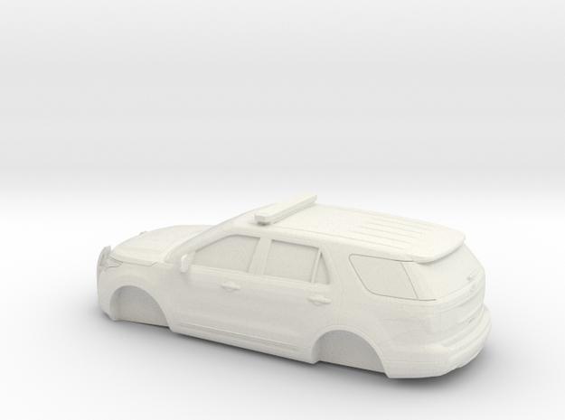 1/64 2011 Ford Explorer Police Interceptor in White Natural Versatile Plastic