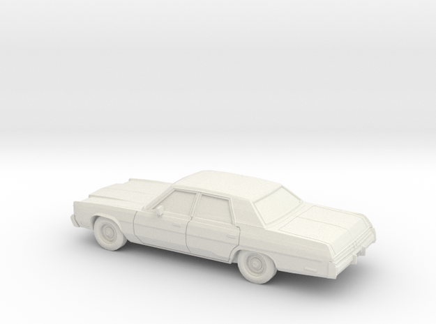 1/64 1977 Chrysler Newport Sedan in White Natural Versatile Plastic