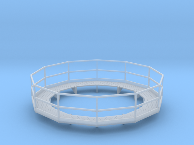 1/64 12' Tower Catwalk Polygon in Smooth Fine Detail Plastic