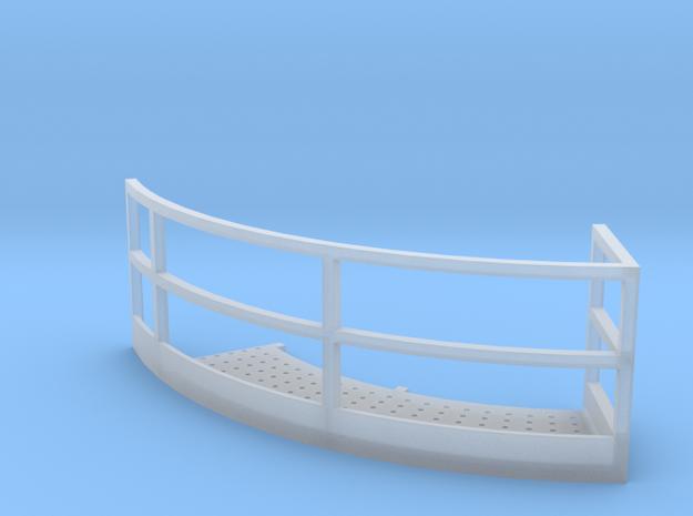 1/64 12' Tower Catwalk Round Left in Smooth Fine Detail Plastic