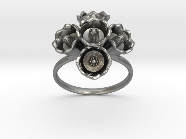 The Lily of The Valley Ring II in Natural Silver