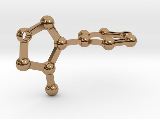 nicotine - keychain in Polished Brass