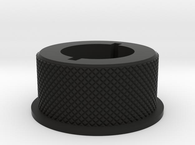 Locking nut, F-15 version in Black Natural Versatile Plastic
