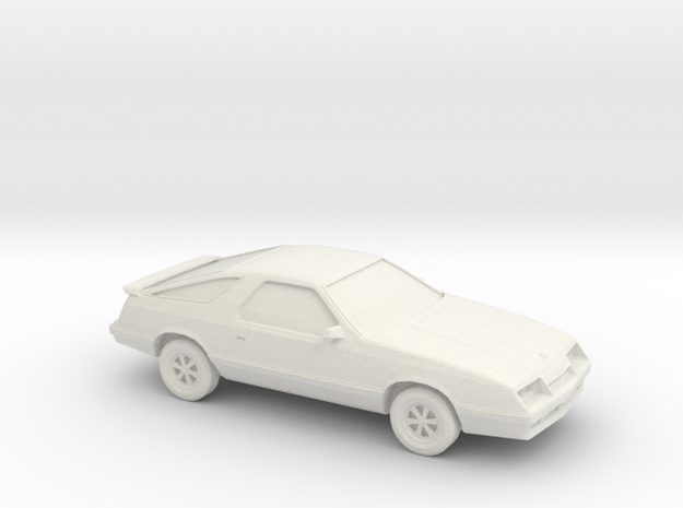 1/43 1984-86 Dodge Daytona in White Natural Versatile Plastic