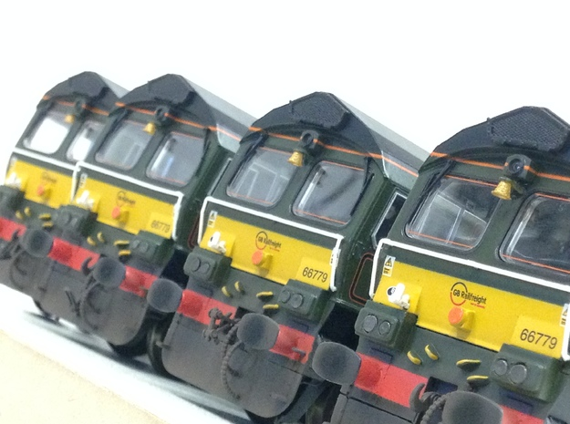 Class 66 Bell for Evening Star Class 66 (x3 Bells  in Smoothest Fine Detail Plastic