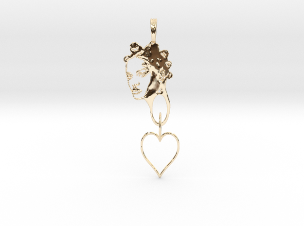 RIHANNA PENDANT - RIHANNA FAN PENDANT - Exclusive  in 14K Yellow Gold