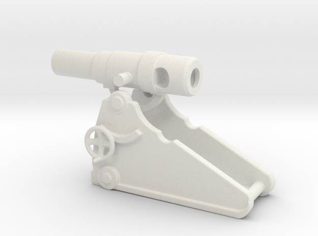 russian heavy 8 inch cannon m 1877 1/56  in White Natural Versatile Plastic