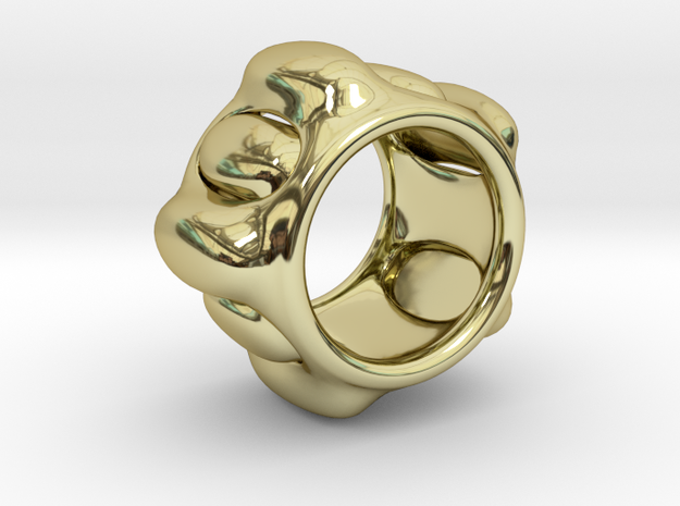 Cell ring in 18k Gold Plated Brass