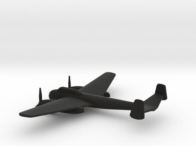 Saab B-18B (w/o landing gears) in Black Natural Versatile Plastic: 1:200