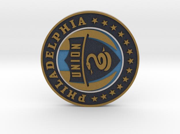 Philadelphia Union Soccer Logo 1 inch in Full Color Sandstone