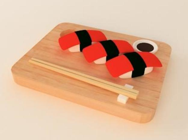 salmon sushi 3d printed cool sushi pendant