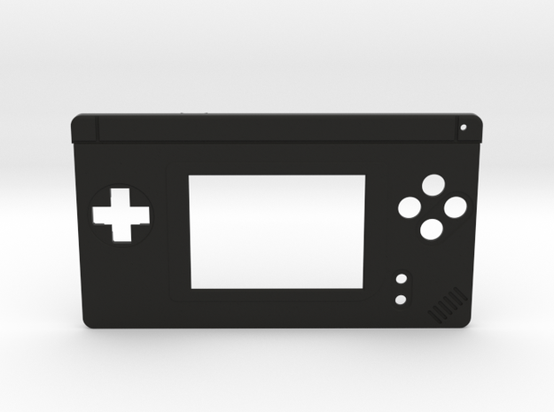 Gameboy Macro Faceplate (for DS Lite) - 4 Buttons in Black Natural Versatile Plastic