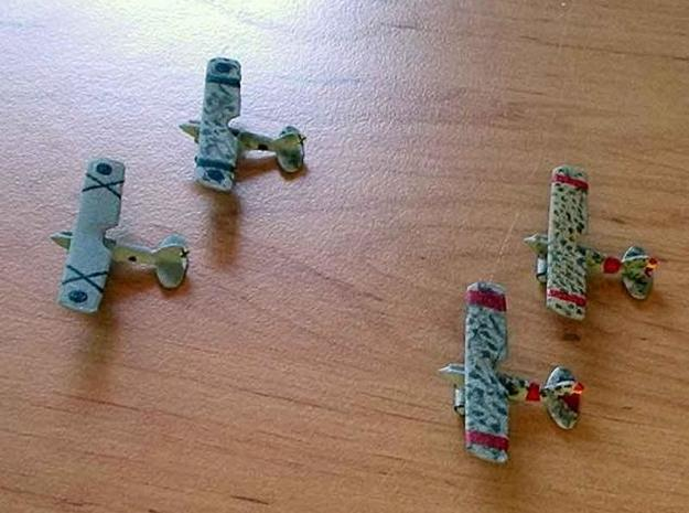 1/300 Nieuport 52 x 4 3d printed The models in Nationalist (left) and Republican markings