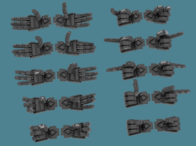 Extended Crisis Hands, 12 pair sets