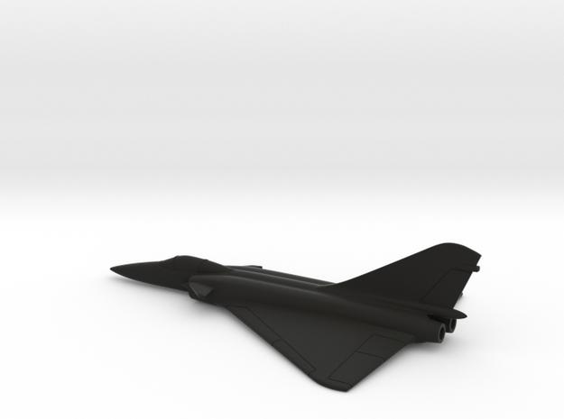 Dassault Super Mirage 4000 (w/o landing gears) in Black Natural Versatile Plastic: 1:200