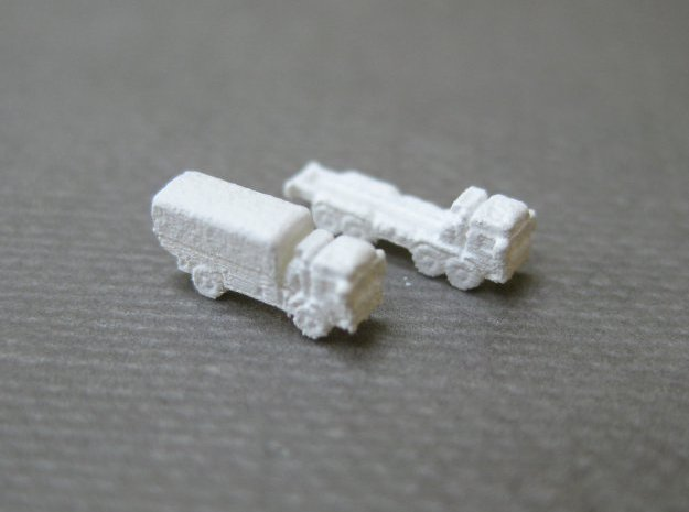 MAN / RMMV HX60 GS trucks (1:1250) in Smooth Fine Detail Plastic: Small