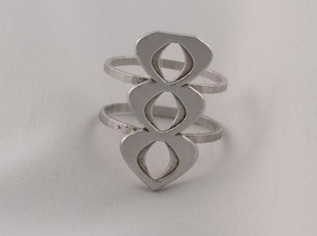 mod atomic ring size 6 in Raw Silver
