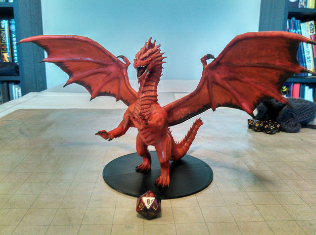 Adult Red Dragon in Red Processed Versatile Plastic