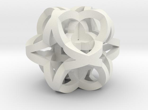 Celtic Knot Cube in White Natural Versatile Plastic