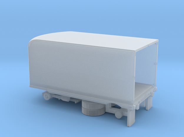 1/160 1950tys One Axel Semi Trailer Kit in Smooth Fine Detail Plastic