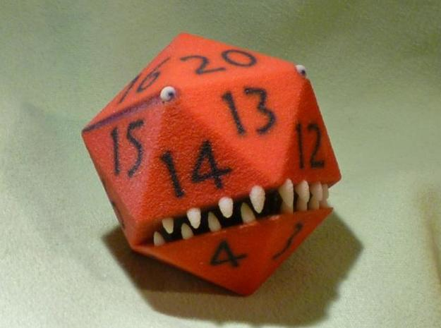 D20 Red Monster Figurine