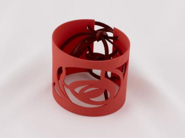 Rose w Thorn Bracelet in Red Strong & Flexible Polished