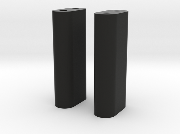 Body_Mount_Rear_Shocks_Front in Black Natural Versatile Plastic