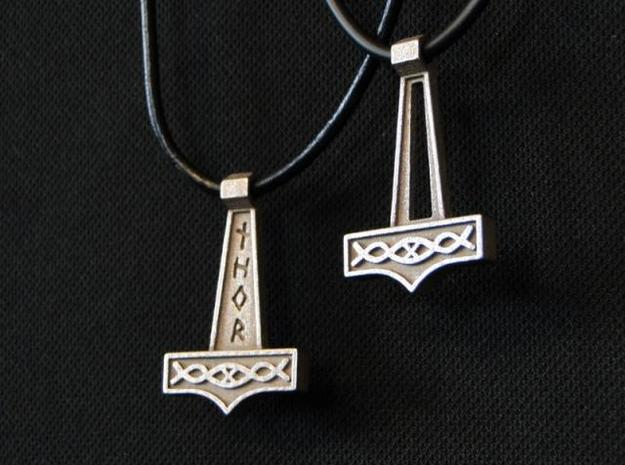 Pendant Thor V2 3d printed Together with Thor V1 (not included) - Stainless Steel