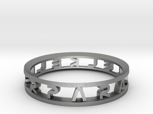 "Parallelkeller Ring ""Round'N'Round"" Intense in Natural Silver"