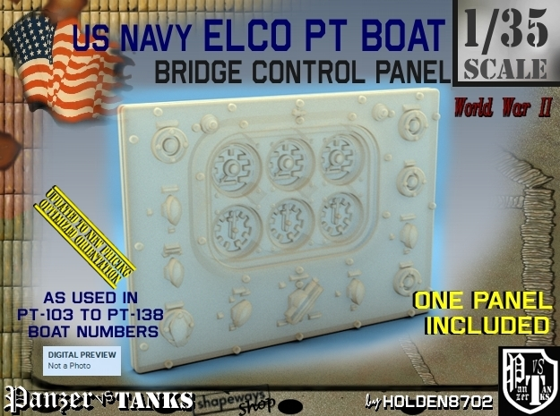 1/35 PT Boat Bridge Control Pannel Typ1