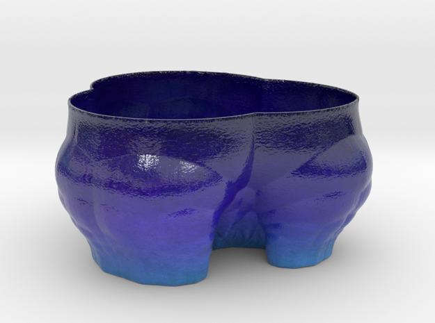 Fractal Planter Flower Pot or just a vase B in Glossy Full Color Sandstone