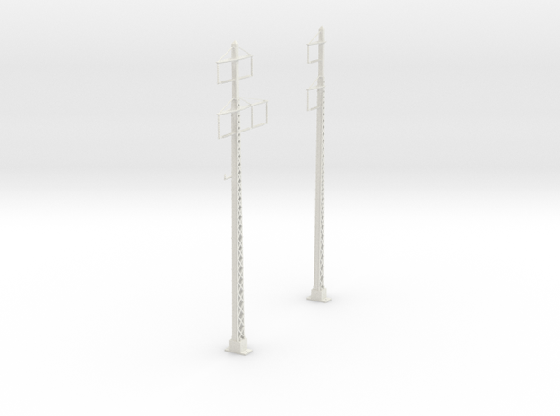 tapered lattice cat pole span_2PHASE_2-3PHASE in White Natural Versatile Plastic
