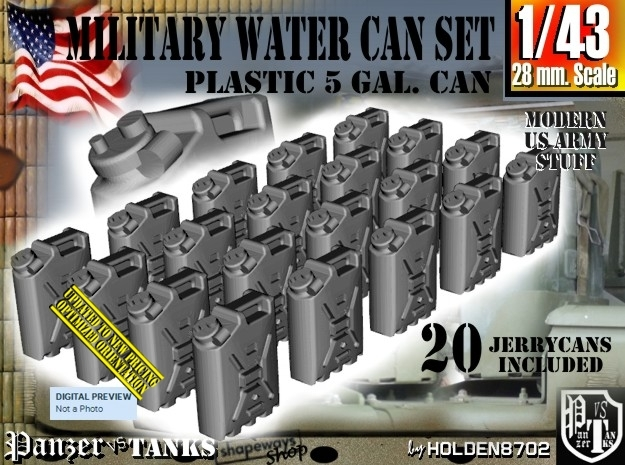 1/43 Military Water Can Set301 in Frosted Ultra Detail