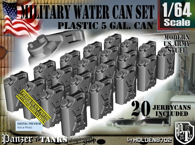 1/64 Military Water Can Set301 in Frosted Ultra Detail