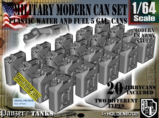 1/64 Military Fuel+Water Can Set401 in Frosted Ultra Detail