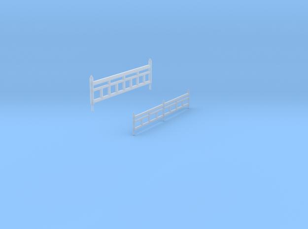 Onsen diorama fences in Smoothest Fine Detail Plastic