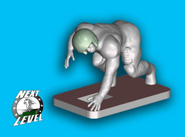 Right Defensive End (1.9g) in Smooth Fine Detail Plastic