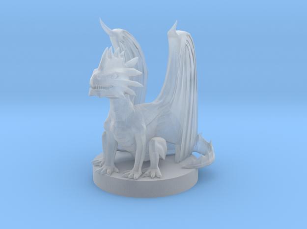 Silver Dragon Wyrmling in Smooth Fine Detail Plastic